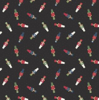 Lewis & Irene Small Things at Christmas - 5492 - Toy Soldiers on Black - SMC10.3 - Cotton Fabric